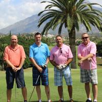 Happy golf customers