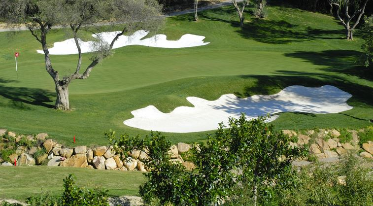 One of the greens at Finca Cortesin