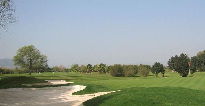 One of the fairways at the Guadalhorce golf course