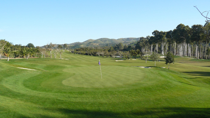 One of the greens at Santana Golf