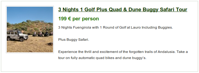 Lauro golf special offer