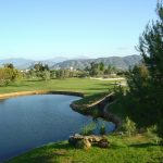 One of 14 lakes at Lauro Golf