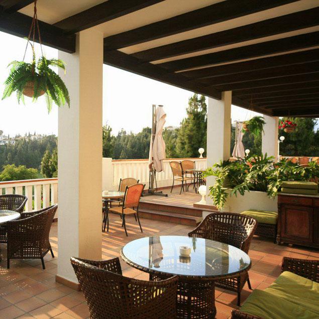 Restaurant terrace at El Chaparral