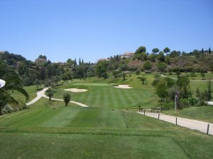 View from the tee, Los Arqueros Golf