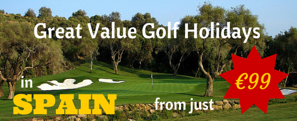 Great value golf holidays banner image