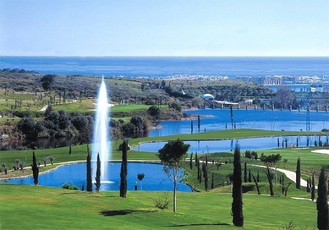The Los Flamingos course with views to the Mediterranean