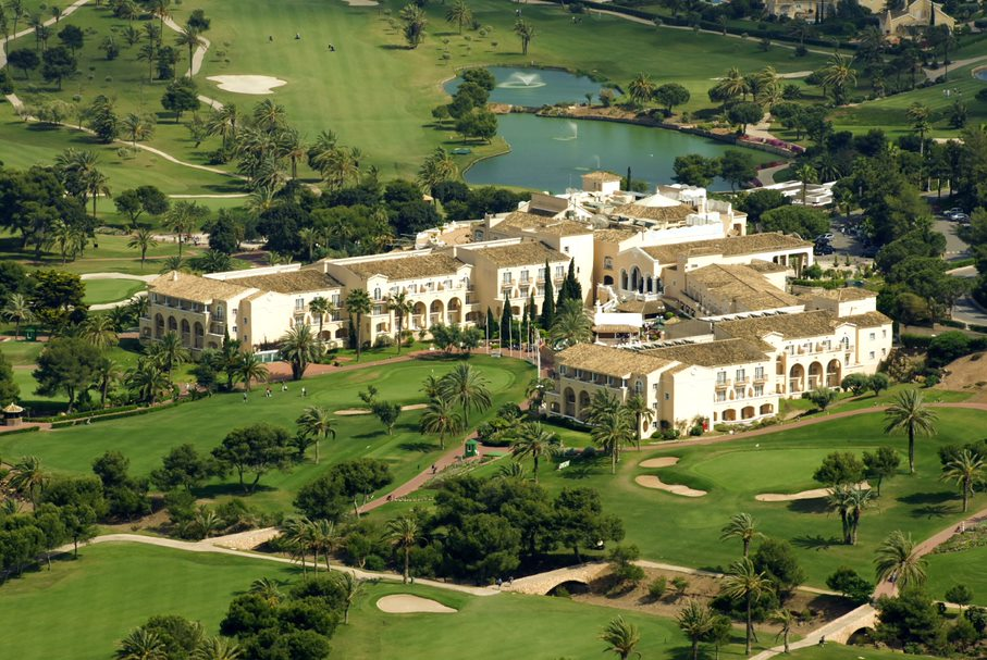 The La Manga Club hotel from above