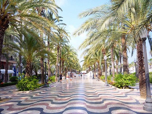 Paseo Explanade de Espana, Alicante