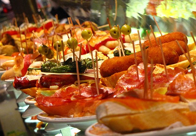 Variation of Spanish tapas dishes